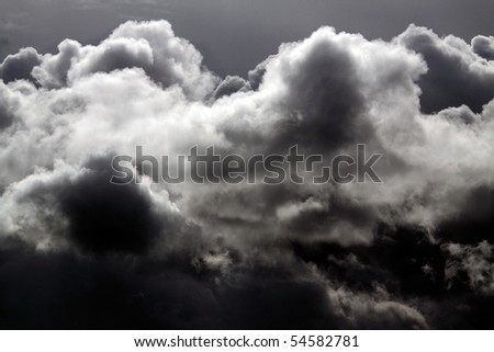 Dramatic big cloud in a winter stormy day