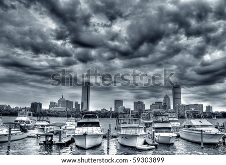 Dramatic Boston Skyline