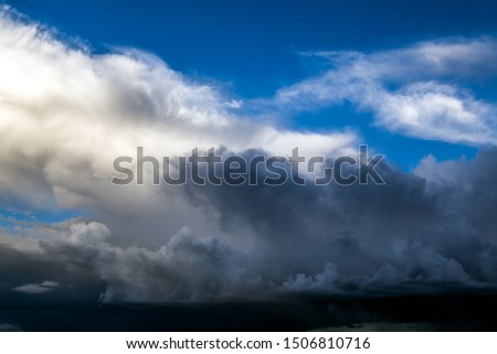 Dramatic Cloudscape Background with a Blue Sky #1506810716