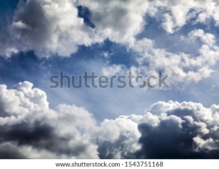 Dramatic Cloudscape Background with a Blue Sky #1543751168