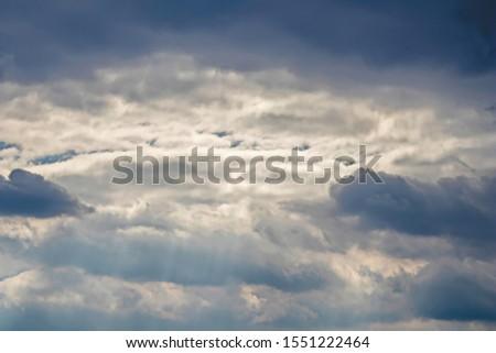 Dramatic Cloudscape, Dark Clouds, Big Storm, before heavy rain #1551222464