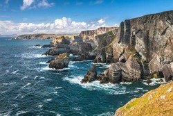 Dramatic landscape at Mizen Head on Atlantic coast, county Cork, Ireland