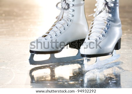 Dramatic landscape natural shot of ice skates