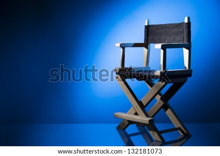 Dramatic Lit Director\'S Chair