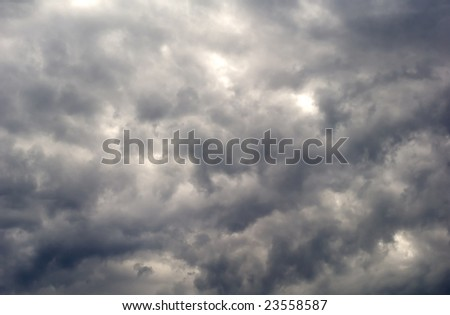Dramatic looking cloud filled sky