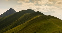 Dramatic mountain landscape of
