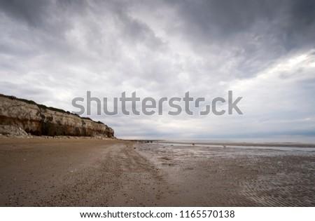 Dramatic overcast coastal scene