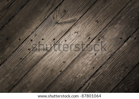 Dramatic Rustic Diagonal Wood Planks