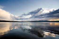 Dramatic scene to lake
