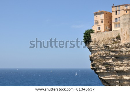 Dramatic Shoreline at City of Bonifacio - Corsica - France