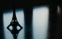 Dramatic Shot over Eiffel Tower Model