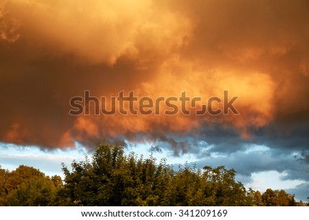 dramatic sky #341209169