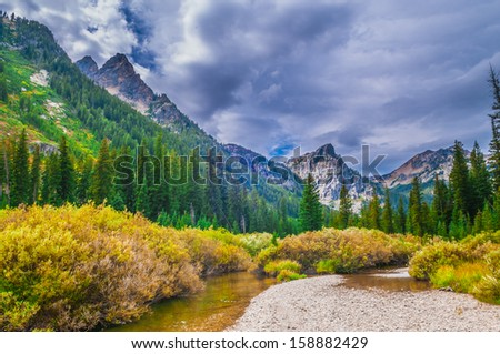 Dramatic Sky over Beautiful Cascade Canyon - Grand Tetons #158882429