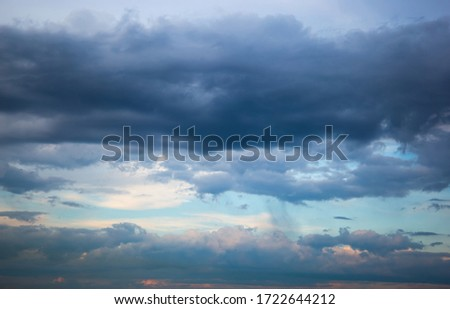 Dramatic sky with clouds after a thunderstorm. ストックフォト ©