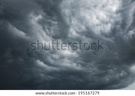 Dramatic sky with dark clouds #195167279