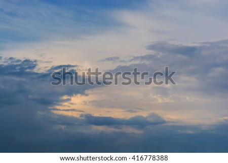 Dramatic stormy clouds sky background #416778388