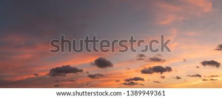 Dramatic sunset and sunrise sky.  #1389949361
