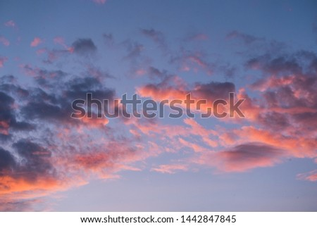 Dramatic sunset and sunrise sky. #1442847845