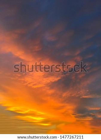 Dramatic sunset and sunrise sky #1477267211