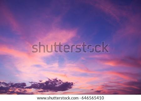 Dramatic sunset and sunrise sky vertical landscape #646565410