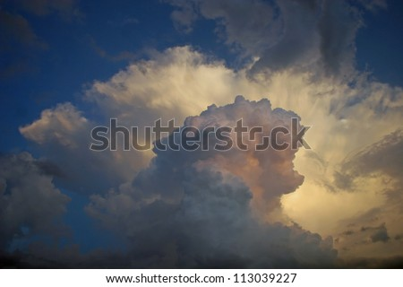dramatic sunset clouds isolated