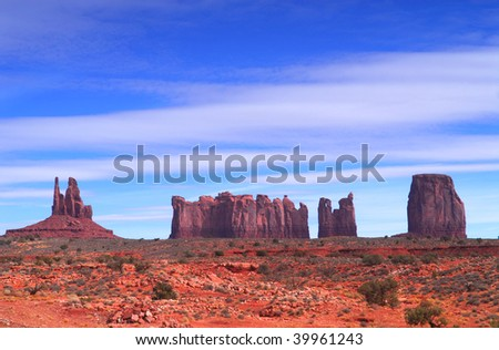 Dramatic view of a section of Artist Point in Monument Valley.
