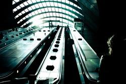 dramatic view of underground stairs