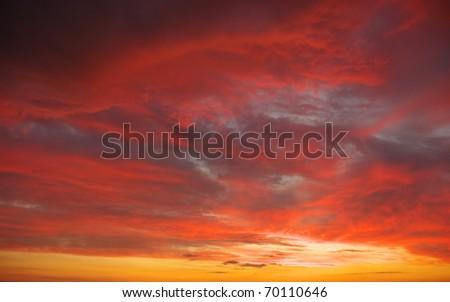 Dramatics sunset sky for background