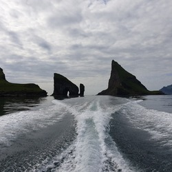 Drangarnir Sea Stacks in the Faroe Islands