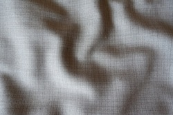 Draped simple grey fabric with dupplins checks