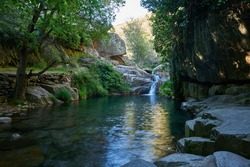 Drave waterfall cascata in Arouca Serra da Freita, Portugal