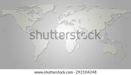 Draw a map of the world in a simple format for the pattern varies. Symbol of illustration . Elements of this image furnished by NASA. #292104248
