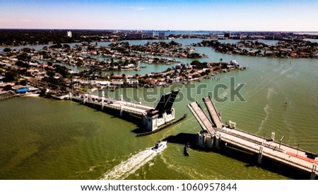 Drawbridge opening