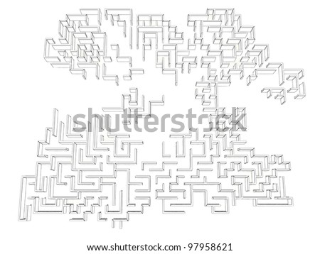 Drawing a labyrinth on a white background ?2