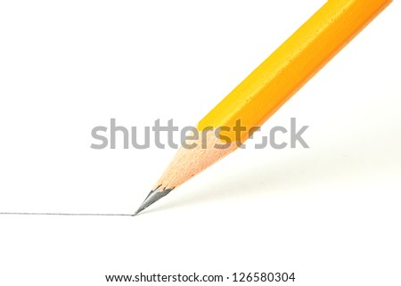 Drawing a line with a pencil