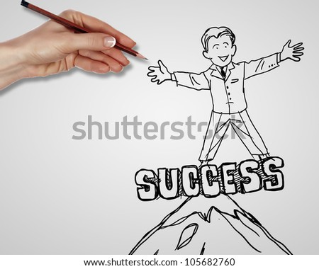 Drawing about creativity and success in business