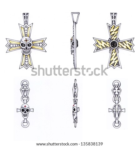 Crosses Skulls Drawings Drawing And Painting Skull