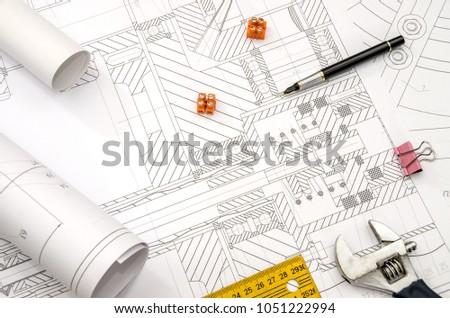 drawing bearing ruler handle tool electrocontact #1051222994