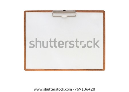 drawing board ,isolated on white background with clipping path.