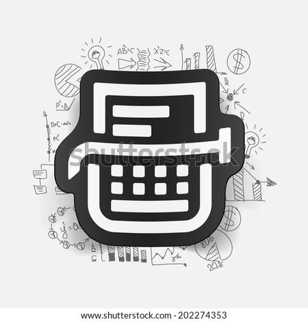 Drawing business formulas: typewriter