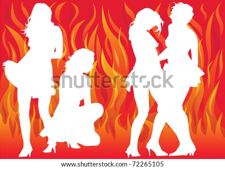 drawing dancing girl on a flame