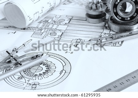 Drawing detail and drawing tools with bearing