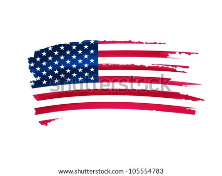 drawing flag of united states of America