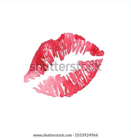 Drawing kiss watercolor