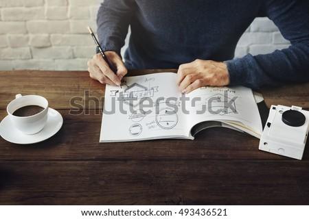 Drawing Logo Design Draft Concept #493436521