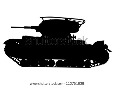drawing of an old military tank