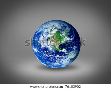 Drawing of the earth with an ecological concept over gray background
