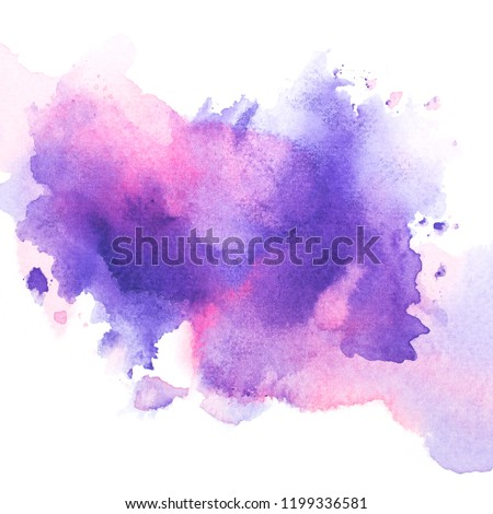 drawing purple watercolor.