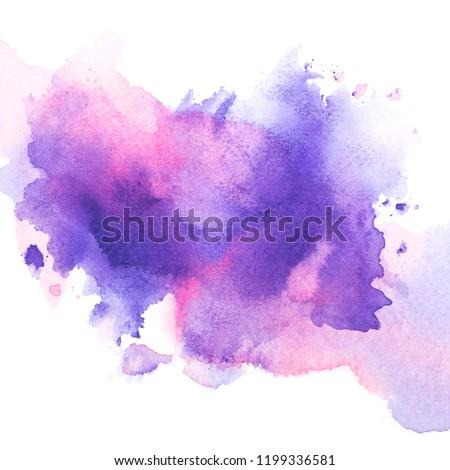 drawing purple watercolor.