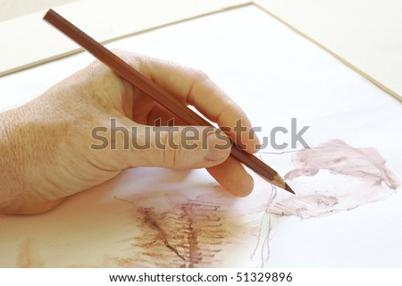 Drawing the human figure with a pencil